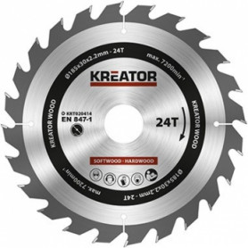 Kreator KRT020414 saw wheel, Ø185x30x2.2mm, for wood, 24 teeth