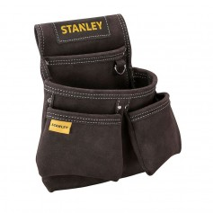Stanley leather double tool bag, STST1-80116