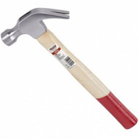 Kreator KRT903001 hand hammer, 450g, with nail puller, wooden handle