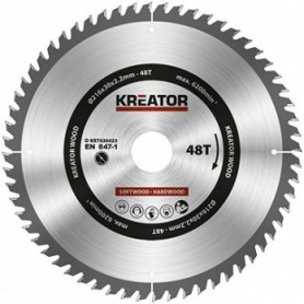 Kreator KRT020423 saw wheel Ø216x30x2.2mm, for wood, 48 teeth