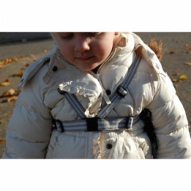 Jippie's safety harnesses 83683, with leash, gray