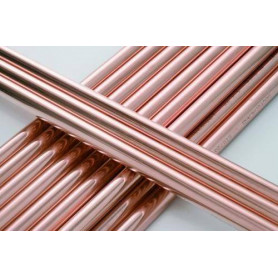 Copper pipe, solid d15x1.0mm