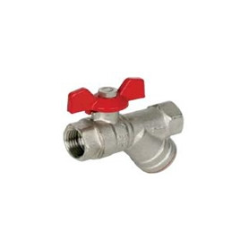 Arco ball valve 1/2 FF 30bar, with filter, butterfly handle, RHF33