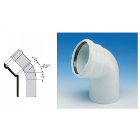 Wavin ASTO noise-reducing sewage pipe elbow 110x30deg