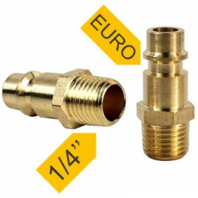 PowerPlus POWAIR0250 pneumatic connection EURO, with outer thread, 1/4, 2pcs