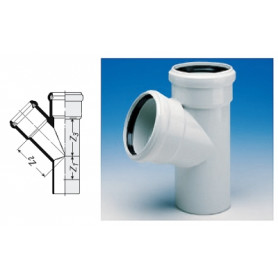 Wavin ASTO noise-reducing sewage pipe T-piece 110/58 88deg