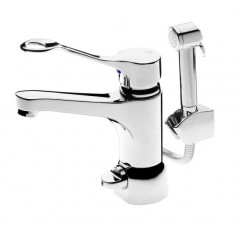 Gustavsberg Nautic basin mixer 150mm spout with switch and shower GB41214185
