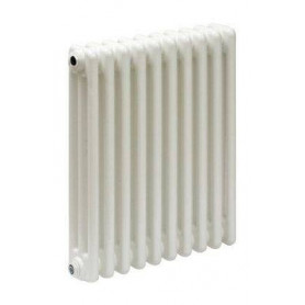 Cordivari Ardesia 3 row aluminum radiator, H 676, 6 sections, white
