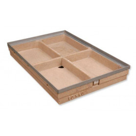 ACO polymer concrete doormat tray 750x500 with steel frame