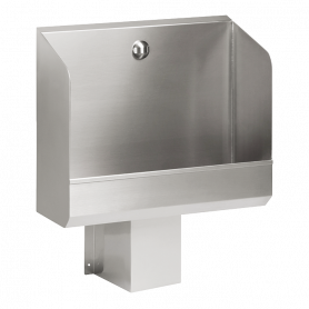 Sanela stainless steel urinal SLPN 02C, automatic, with integrated thermic flushing unit, 600mm, 24V DC