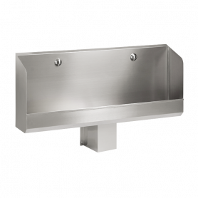 Sanela stainless steel urinal SLPN 03C, automatic, with integrated thermic flushing unit, 1200mm, 24V DC