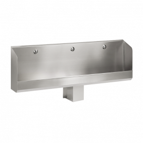 Sanela stainless steel urinal SLPN 04CB, automatic, with integrated thermic flushing unit, 1800mm, 6V