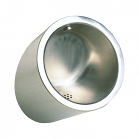 Sanela stainless steel urinal SLPN 09C, automatic, with integrated thermic flushing unit, 24V DC
