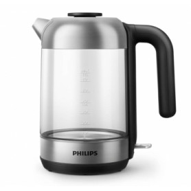 Philips electric kettle HD9339/80, 1,7L, glass, black/ silver