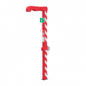 Sanela SLSN 23H free standing outdoor body shower, with start trigger and heating, up to max. -20°C