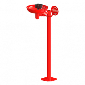 Sanela SLSN 25 free standing eyes shower, with two spray heads, bowl and start lever