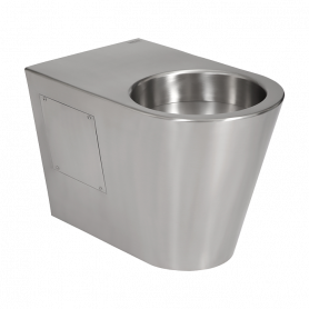 Sanela SLWN 30 stainless steel floor standing toilet, waste outlet to the floor