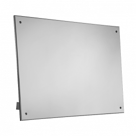 Sanela SLZN 52 stainless steel folding mirror for disabled people, wall controlled, (400x600mm)