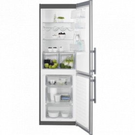 Electrolux refrigerator LNT3LE34X4 with inner freezer, 185cm, silver