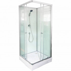 Duschy rectangle shower cabin 80x80x200cm, with rear wall, 5500