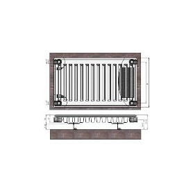 Termolux steel radiator with side connection 11x400x1600