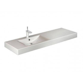 PAA washbasin Long Step 1500x490mm, with right extension