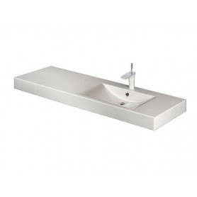 PAA washbasin Long Step 1500x490mm, with left extension