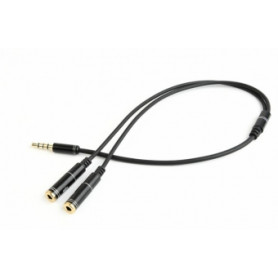 Gembird 3.5mm audio + microphone adapter Metal