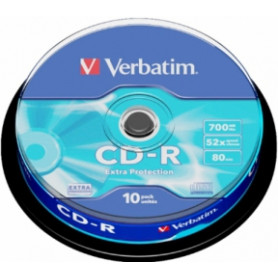 Matricas CD-R Verbatim 700MB 1x-52x Extra Protection, 10 Pack Spindle