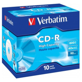 Matricas CD-R Verbatim 800MB 1x-40x Extra Protection, 10 Pack Jewel