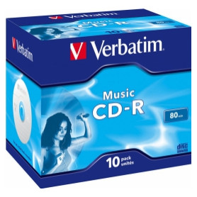 Matricas CD-R Audio Verbatim 80Min Music 10 Pack Jewel