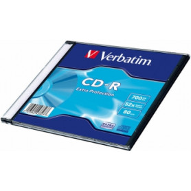Matricas CD-R Verbatim 700MB 1x-52x Extra protection, Single Wrap Slim