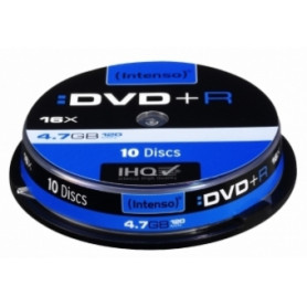 Matricas Intenso DVD+R 4.7 GB 16x 10 Pack Spindle