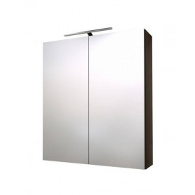 Raguvos Baldai Scandic bathroom mirror cabinet 60cm, black oak, without lighting