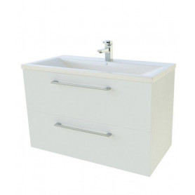 Raguvos Baldai Scandic bathroom vanity unit with washbasin 81cm, white,