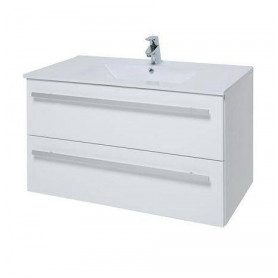 Raguvos Baldai Serena bathroom vanity unit with washbasin 76cm, glosy white 14113411