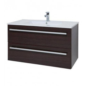 Raguvos Baldai Serena bathroom vanity unit with washbasin 76cm, black oak 14113401