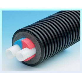 Uponor Ecoflex Thermo Twin factory insulated pipe, 2x32x2.9/175 (price 1m)