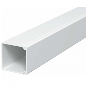 Obo Betterman cable protection channel PVC 25x25mm, RAL9010, white, 64m/package (lenght 2m, price for 1m)