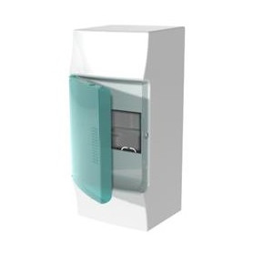 ABB switchboard cabinet IK08 Mistral41 650, surface mounted, 4 modules, white, with c/d, IP41