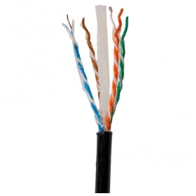 Secnet data cable 4x2x0.5mm Cat6 U/UTP, black, for outdoors, with gel, from roll