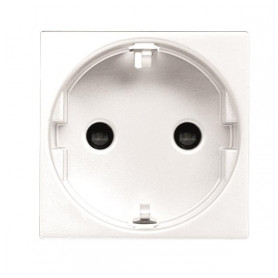 ABB Niessen concealed electricity socket Zenit N2288BL, 2 modules, grounded, child protection, white, 2CLA228800N1101