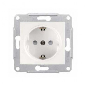 Schneider Electric concealed 1-slot electricity socket Sedna Pro, grounded, child protection, beige, SDN3000123