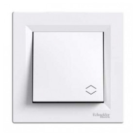 Schneider Electric concealed switch Asfora, white, with frame, IP20, EPH0400321
