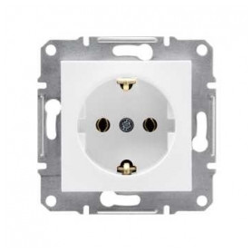 Schneider Electric concealed 1-slot electricity socket Asfora, grounded, child protection, white, IP20, EPH2900821