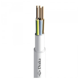 Draka indoor electricity cable XPJ 3x1.5mm², white, 100m