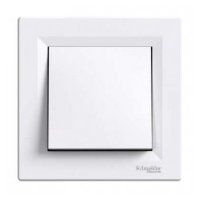 Schneider Electric concealed 1-pole switch Asfora, white, with frame, IP20, EPH0100321