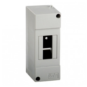 IDE switchboard cabinet Combi 40SP, surface mounted, 2 modules, white, IP40