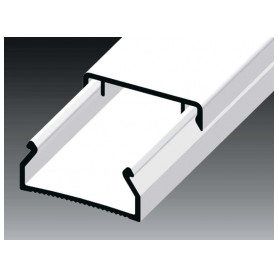 Kopos cable protection channel 20x10mm LHD HD, white, in protective film (lenght 2m, price for 1m)