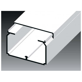 Kopos cable protection channel 60x40mm LH HD, white, in protective film (lenght 2m, price for 1m)